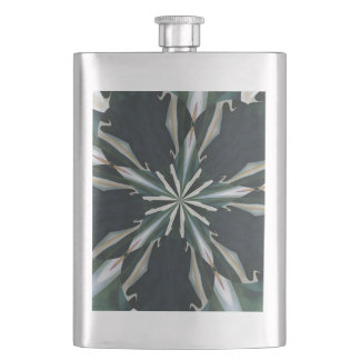 Calla Lily Star Kaleidoscope Hip Flask