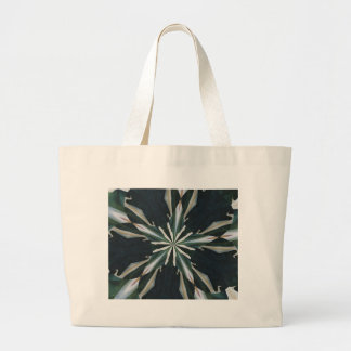 Calla Lily Star Kaleidoscope Large Tote Bag