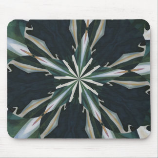 Calla Lily Star Kaleidoscope Mouse Pad