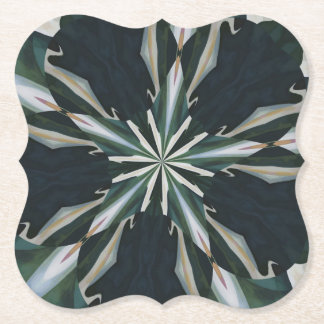 Calla Lily Star Kaleidoscope Paper Coaster