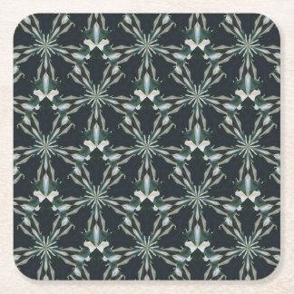 Calla Lily Star Kaleidoscope Square Paper Coaster