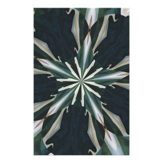 Calla Lily Star Kaleidoscope Stationery Paper
