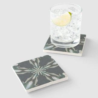 Calla Lily Star Kaleidoscope Stone Coaster