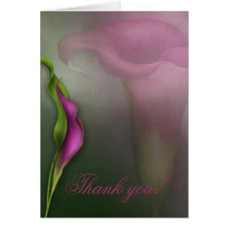 Calla Lily Thank you! Card
