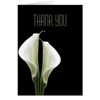 Calla Lily Thank You Note Card