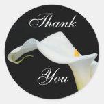 Calla Lily Thank You Sticker/Seal Round Sticker