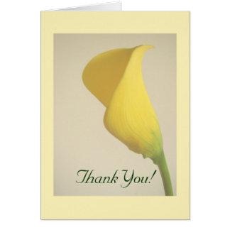Calla Lily Thankyou Card