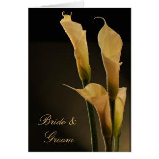 Calla Lily Wedding Card
