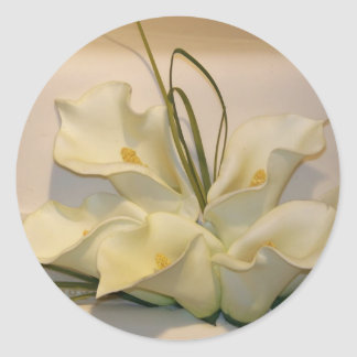 Calla lily wedding envelope seals round sticker