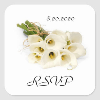 Calla Lily Wedding Invitation Envelope Seals