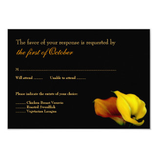 Calla Lily Wedding Response Card