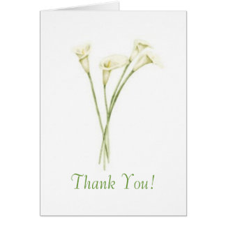 Calla Thank You! Card