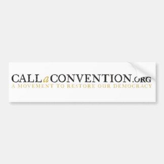 callaconvention bumper white bumper sticker