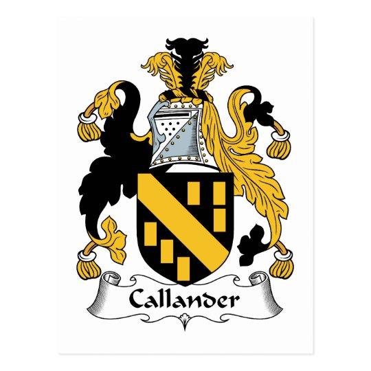 Callander Family Crest Postcard