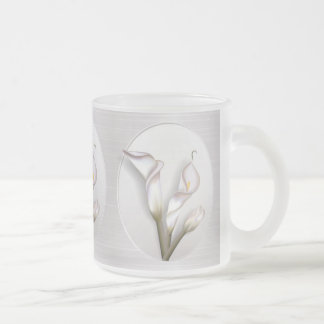 Callas In Frame 10 Oz Frosted Glass Coffee Mug
