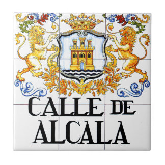 Calle de Alcalá, Madrid Street Sign Tile