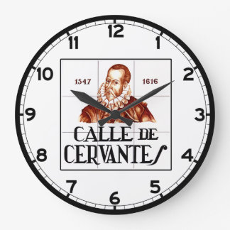 Calle de Cervantes, Madrid Street Sign Large Clock