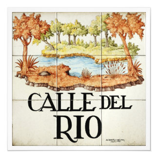 Calle del Rio street sign from Madrid Magnetic Card