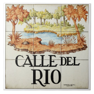 Calle del Rio street sign from Madrid Tile