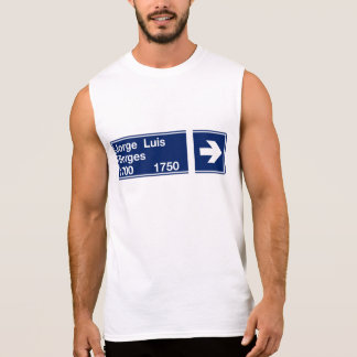 Calle Jorge Luis Borges, Buenos Aires Street Sign Sleeveless Shirt
