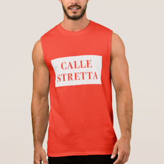 Calle Stretta, Venice, Italian Street Sign Sleeveless Shirt