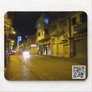 Calle Tarqui in Cuenca, Ecuador at Night Mouse Pad
