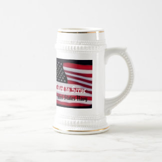 Called to serve Branch specific USA Flag Beer Stein