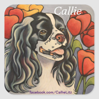 Callie Dog Art Sticker
