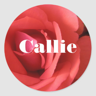 Callie Round Sticker