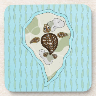 Callie the Sea Turtle Cork Coaster