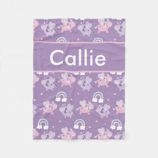 Callie's Personalized Unicorn Blanket