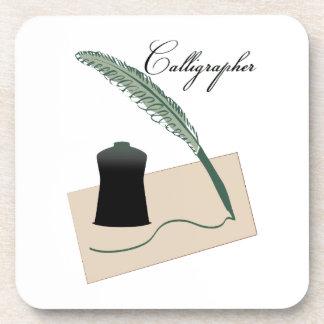 Calligrapher Beverage Coaster