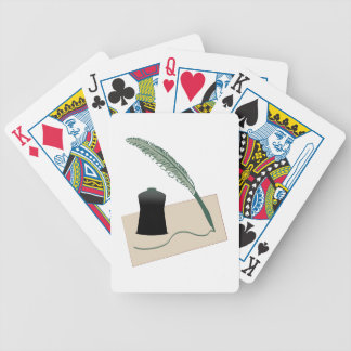Calligrapher Instruments Playing Cards