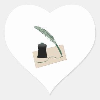 Calligrapher Instruments Heart Stickers
