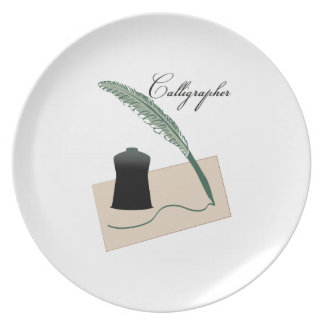 Calligrapher Plate