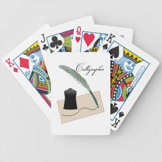 Calligrapher Bicycle Poker Cards