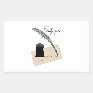 Calligrapher Rectangular Sticker