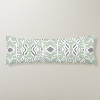 Calligraphic Body Pillow in Mint