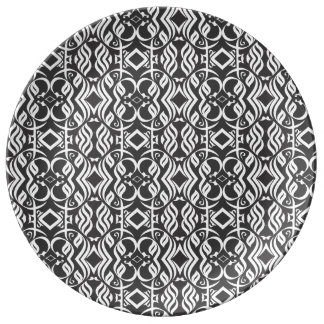 Calligraphic Dennerplate in Black and White Plate