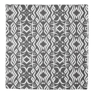 Calligraphic Duvet in Black and White