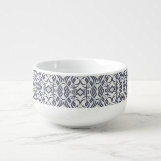 Calligraphic Soup Mug In Indigo
