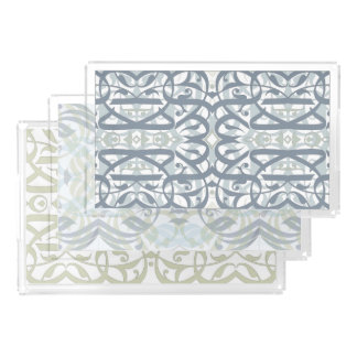Calligraphic Trays Set Perfume Tray