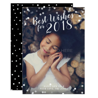 Calligraphy Best Wishes the New Year Photo Card