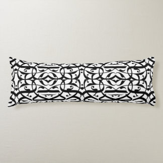 Calligraphy Body Pillow Balck and White