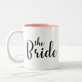 Calligraphy bridal mug
