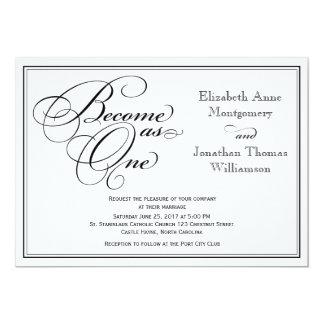 Calligraphy Christian Wedding Invitation