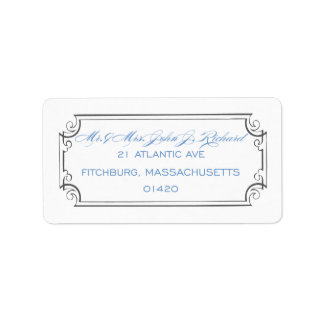 Calligraphy Frame Address Label