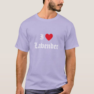 Calligraphy I Love Lavender T-Shirt