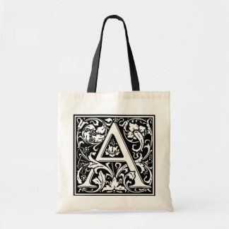 calligraphy initial totebag (contact to customize) tote bag