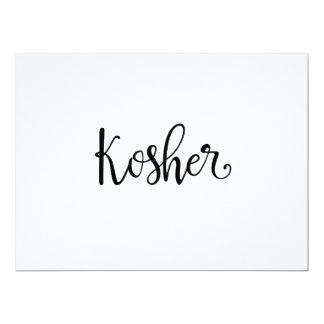 "Calligraphy | ""Kosher"" Dietary Needs Sign 6.5"" X 8.75"" Invitation Card"
